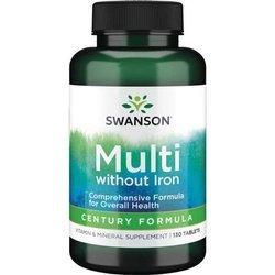 Swanson Century Formuła bez żelaza 130 tabletek