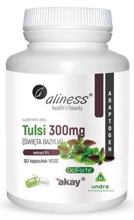 Aliness Bazylia (Tulsi) Extract 300 mg 90 kapsułek vege