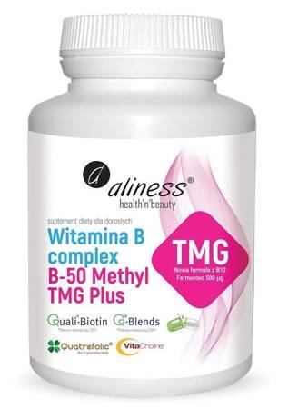 Aliness Witamina B Complex B-50 Methyl TMG Plus 100 kapsułek vege