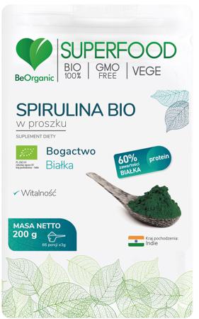 BeOrganic Spirulina BIO 200 g proszek
