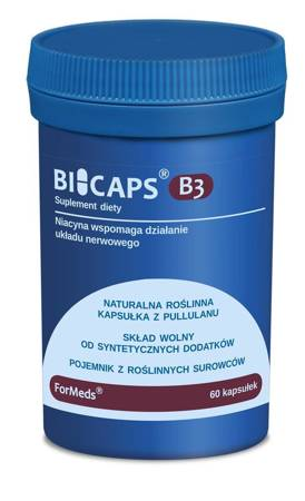 ForMeds BiCaps B3 Niacyna (Niacinamide) 500 mg 60 kapsułek