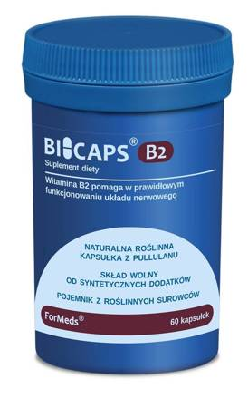 ForMeds BiCaps Witamina B2 40 mg 60 kapsułek