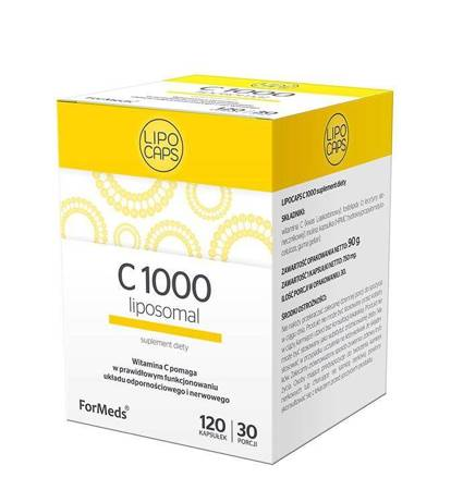 ForMeds Witamina C 1000 mg Liposomalna 120 kapsułek