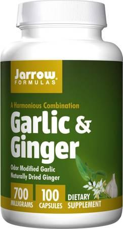 Jarrow Formulas Czosnek (Garlic) + Imbir (Ginger) 700 mg 100 kapsułek