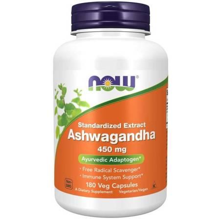 Now Foods Ashwagandha 450 mg 180 kapsułek
