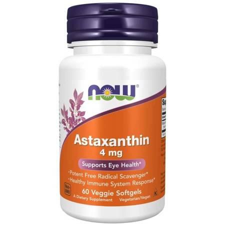 Now Foods Astaksantyna (Astaxanthin) 4 mg 60 kapsułek