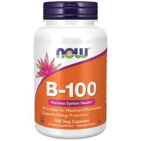 Now Foods B-100 Witamina B Complex 100 veg kapsułek
