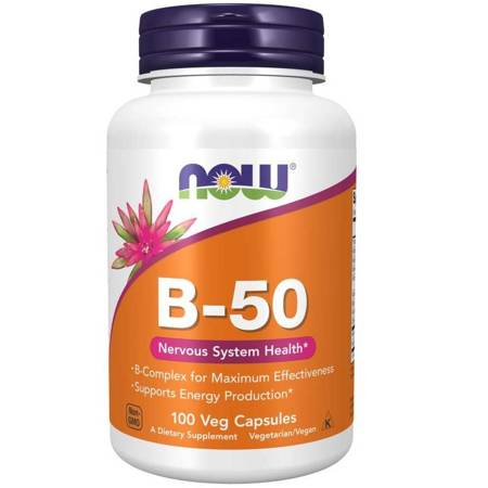 Now Foods B-50 Witamina B Complex 100 veg kapsułek