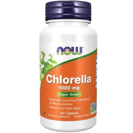 Now Foods Chlorella 1000 mg 60 tabletek