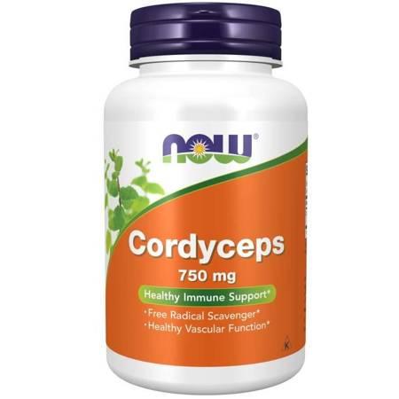 Now Foods Cordyceps 750 mg 90 kapsułek