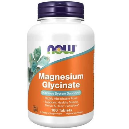 Now Foods Diglicynian Magnezu 100 mg 180 tabletek