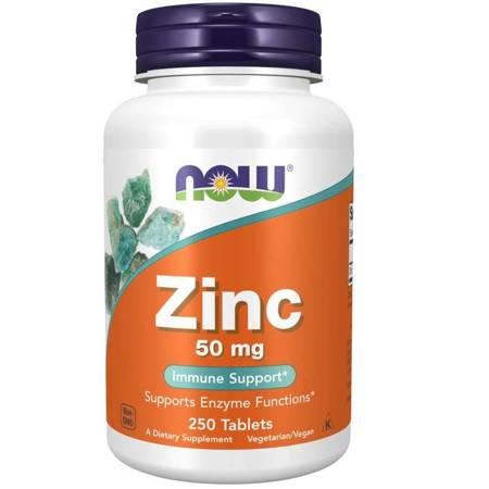 Now Foods Glukonian Cynku 50 mg 250 tabletek