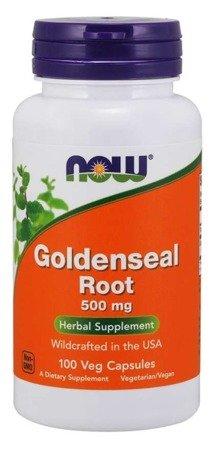 Now Foods Gorzknik Kanadyjski (Goldenseal) 500 mg 100 kapsułek