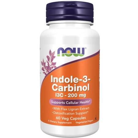 Now Foods Indole-3-Carbinol (I3C) 200 mg 60 kapsułek