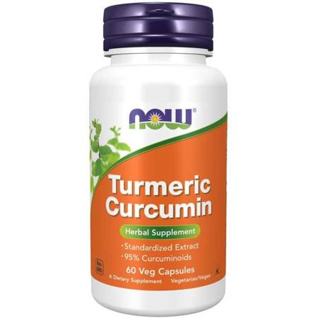 Now Foods Kurkuma (Turmeric) 665 mg 60 kapsułek