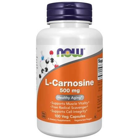Now Foods L-Karnozyna 500 mg 100 veg kapsułek