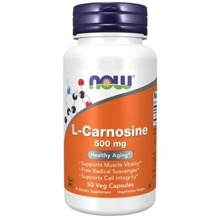 Now Foods L-Karnozyna 500 mg 50 veg kapsułek