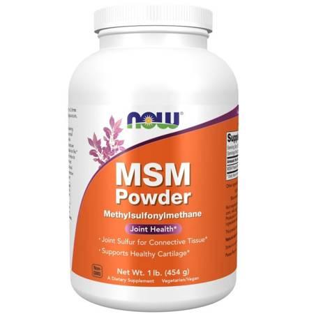 Now Foods MSM Metylosulfonylometan 100% Puder 454 g