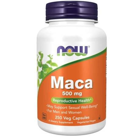 Now Foods Maca 500 mg 250 kapsułek