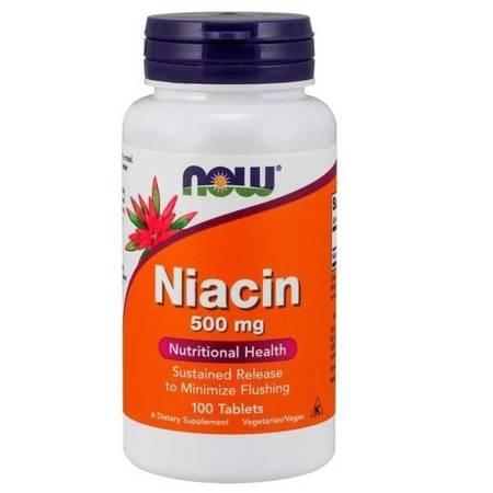 Now Foods Niacyna 500 mg 100 tabletek