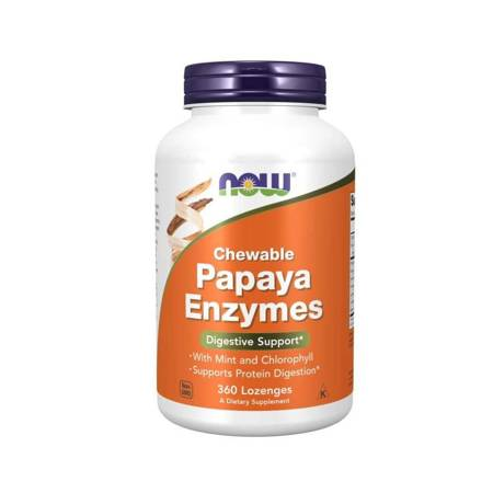 Now Foods Papaya Enzyme 360 tabletek do ssania