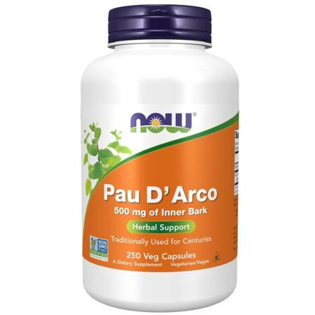 Now Foods Pau d'Arco 500 mg 250 kapsułek