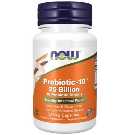 Now Foods Probiotic-10 (25 miliardów) 50 kapsułek