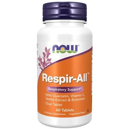 Now Foods Respir-All 60 tabletek