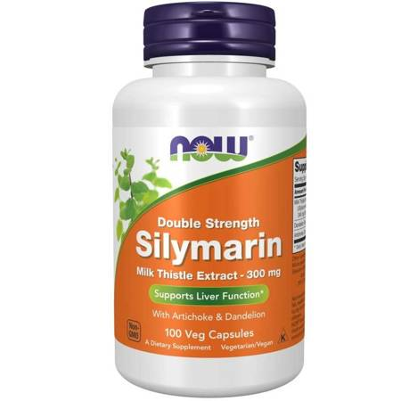 Now Foods Silymarin Double Strength 300 mg 100 kapsułek