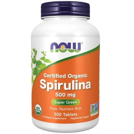 Now Foods Spirulina 500 mg 500 tabletek