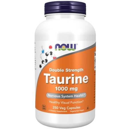 Now Foods Tauryna Double Strength 1000 mg 250 veg kapsułek