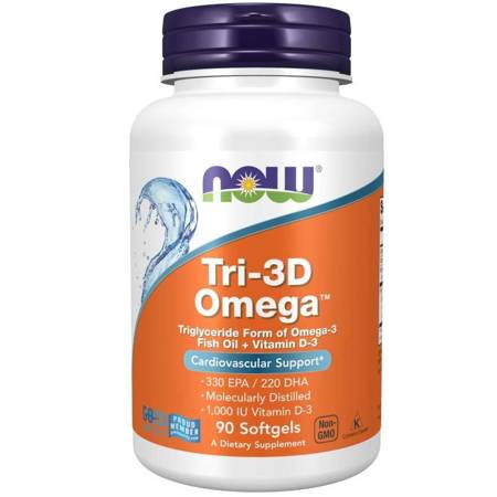 Now Foods Tri-3D Omega 90 kapsułek