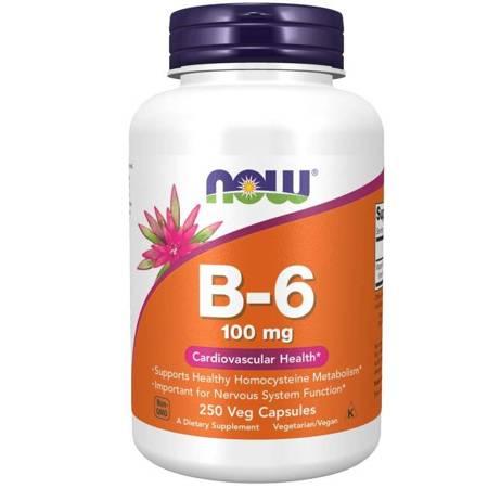 Now Foods Witamina B6 100 mg 250 kapsułek
