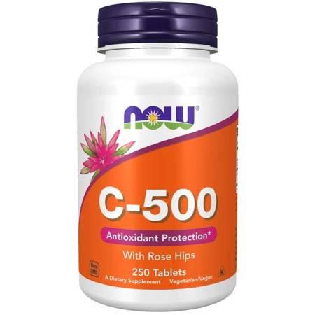Now Foods Witamina C 500 mg z Dziką Różą 250 tabletek