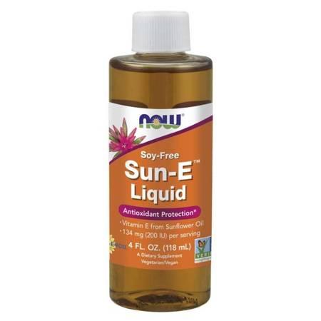 Now Foods Witamina E Sun Liquid 118 ml krolpe