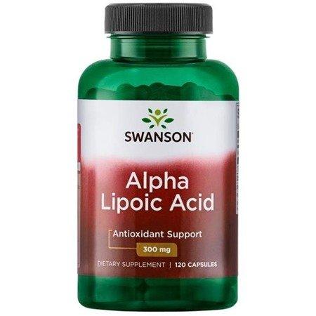Swanson ALA Kwas Alfa Liponowy 300 mg 120 kapsułek