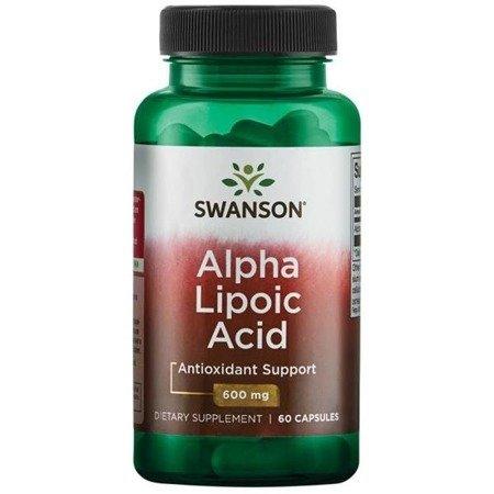 Swanson ALA Kwas Alfa Liponowy 600 mg 60 kapsułek