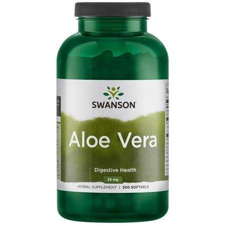 Swanson Aloes (Aloe Vera) 25 mg 300 kapsułek