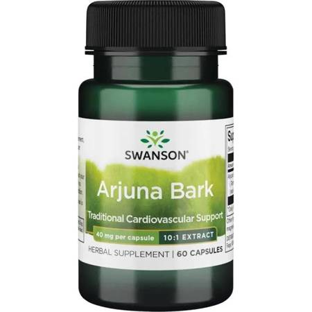 Swanson Arjuna Bark 40 mg 60 kapsułek