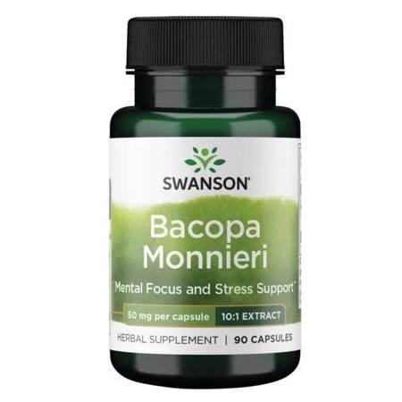 Swanson Bakopa Drobnolistna (Bacopa Monniera) 50 mg 90 kapsułek