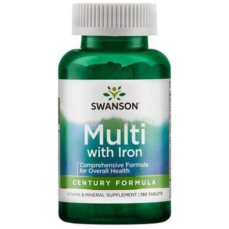 Swanson Century Formuła z żelazem 130 tabletek
