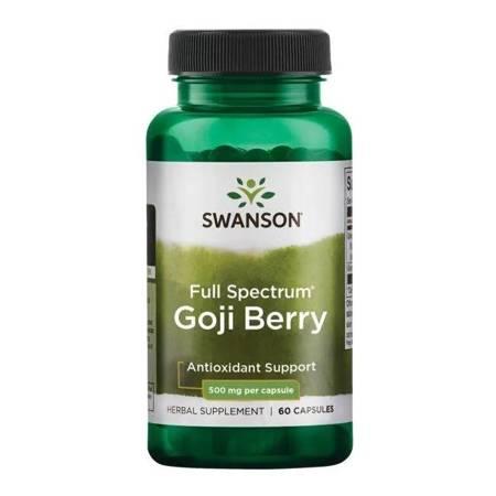 Swanson Goji (Wolfberry) 500 mg 60 kapsułek