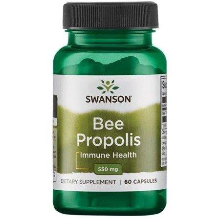 Swanson Kit Pszczeli (Bee Propolis) 550 mg 60 kapsułek