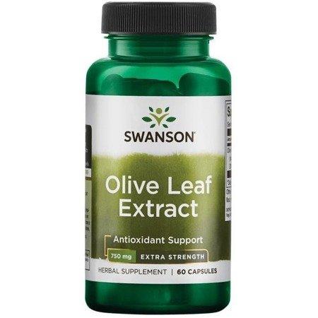 Swanson Liść Oliwny (Olive Leaf) Extract 750 mg 60 kapsułek