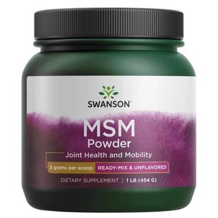 Swanson MSM Metylosulfonylometan 100% Puder 454g
