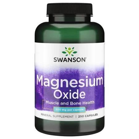 Swanson Magnez 200 mg 250 kapsułek