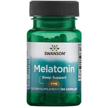 Swanson Melatonina 3 mg 120 kapsułek