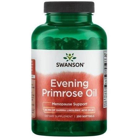Swanson Olej z Wiesiołka (Evening Primrose Oil) 500 mg 250 kapsułek