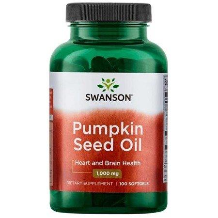 Swanson Olej z pestek Dyni (Pumpkin Seed Oil) 1000 mg 100 kapsułek