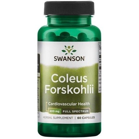 Swanson Pokrzywa Indyjska (Coleus Forskohlii) 400 mg 60 kapsułek